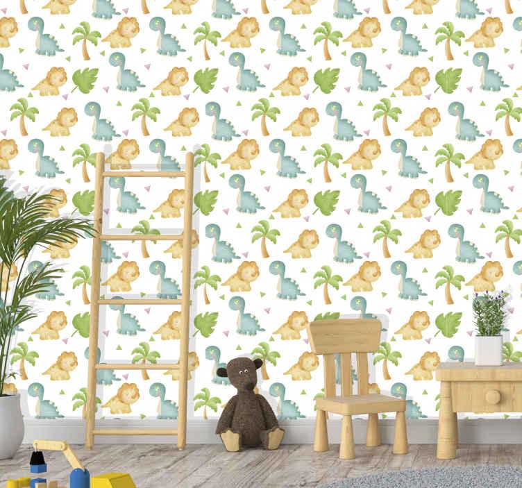 TenVinilo. Papel pared infantil caballitos mar azules. Cambie el aspecto de la habitación de sus hijos con un papel pared infantil con estampado caballitos de mar ¡Envío exprés!