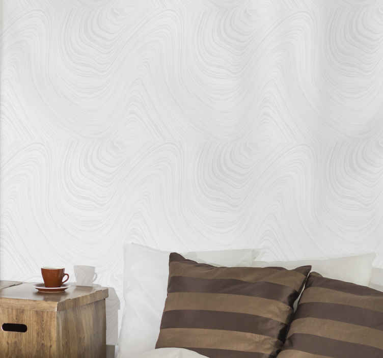 TenStickers. White marble pattern gray stripes effect wallpaper. White marble pattern gray stripes wallpaper to present your space with a touch of wave illusion. It is original, durable and easy to apply.