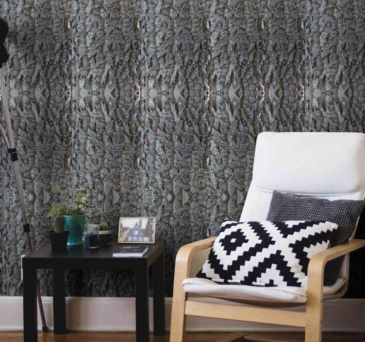 TenStickers. Parati moderni Effetto sughero grigio chiaro. Carta da parati moderna effetto sughero grigio chiaro per personalizzare la parete di qualsiasi stanza di una casa, ufficio o altro spazio.