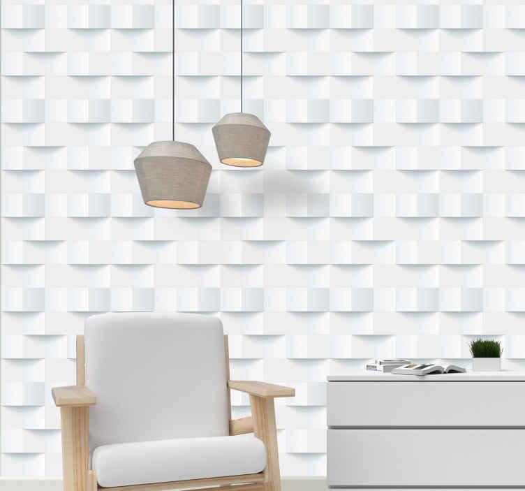 Tenstickers. Tapetti 3d muistilaput valkoinen tapetti 3d. Ylellinen tapetti, jossa on 3d-muistilaput valkoinen, joka sopii sinulle täydellisesti koristamaan olohuoneesi, ruokasalin tilaa.