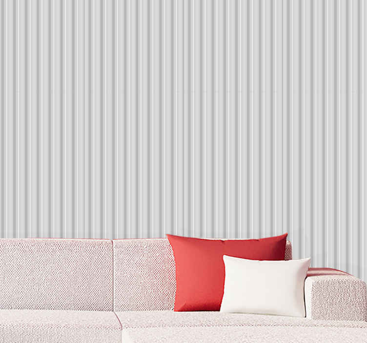 TenStickers. glamour grey stripes Cool abstract wallpaper. Bring some stripes into your life with this amazing design 'glamour grey stripes' from Tenstickers. Order your new cool abstract wallpaper today!
