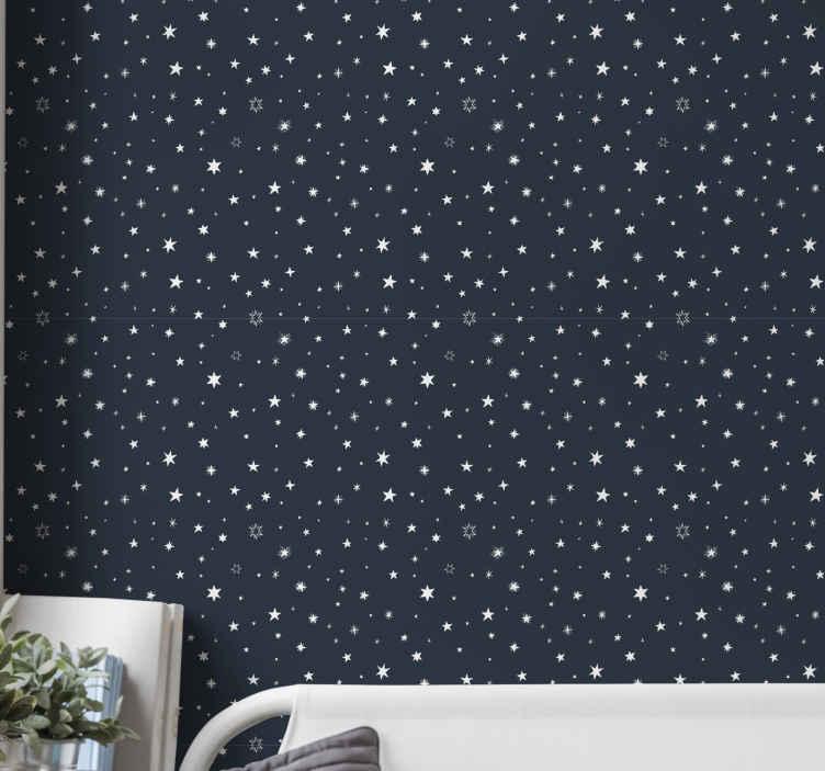 TenVinilo. Papel pintado juvenil para pared Cielo nocturno. ¡Este producto de papel pared decorativo para adolescentes tiene un diseño único y genial que seguramente le dará más energía a tu casa!