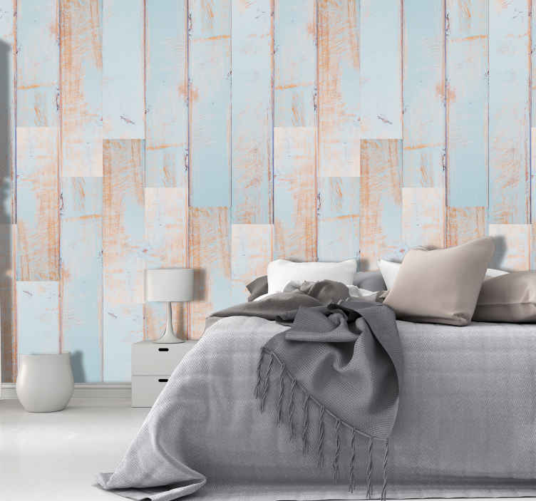 TenStickers. Wallpaper clear sky textured. Modern living room wallpaper that will make your house a happier place is made especially for you. Its rustical vibe is a solution for your walls.