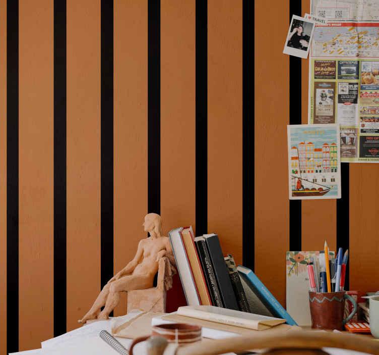 TenVinilo. Papel pintado de Halloween colores rayas verticales. ¡Este impresionante producto decorativo de papel pared de Halloween tiene un diseño único y genial que seguramente le dará a tu casa más energía!
