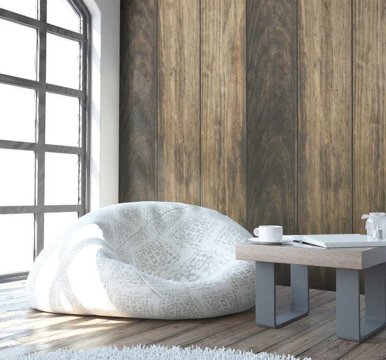 TenStickers. Januar morgen mønster tapet. Give dit soveværelse et nyt liv med dette sublime tekstureret vinyl tapet, hvis mønster er sammensat af flere striber i nuancer af brunt og beige.