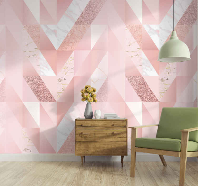 TenStickers. Pink marble wallpaper. Looking to give your room a make over? Want it to look absolutely stunning? This pink marble wallpaper may be just the right thing for you!