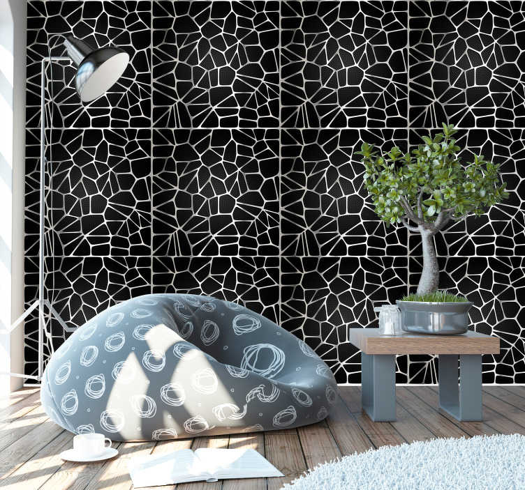 TenStickers. Metallic Pattern Modern Wallpaper. Start turning heads in your living room with this ultra-cool abstract metallic design wallpaper. Free worldwide delivery available!