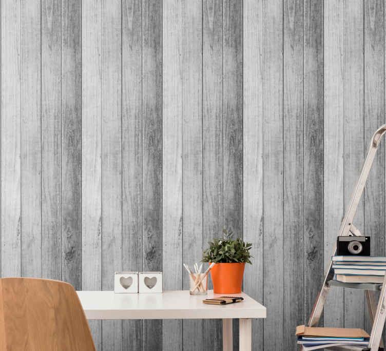 Wood And Stone Dark Grey Stone Wallpaper Tenstickers