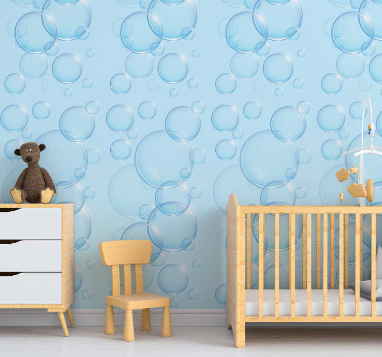 TenStickers. Pink Bubbles Kids Wallpaper. Your children will go crazy for this beautiful and fun pink bubbles kids wallpaper. Free worldwide delivery available now!