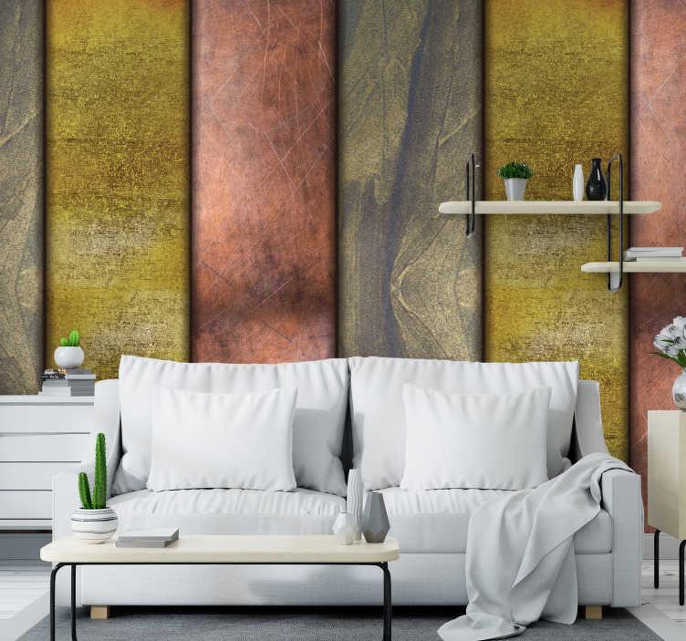 TenStickers. Papier peint salle à manger motif or. Faites entrer votre maison dans le 21e siècle et faites-le avec style avec ce superbe papier peint à motif doré. Livraison dans le monde entier disponible!