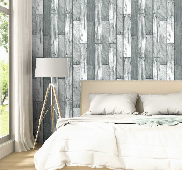 TenStickers. Grey Wood Pattern Wallpaper. Stop wasting your time with paints and mediocrity and start living with this awesome modern grey wood wallpaper. Worldwide delivery!