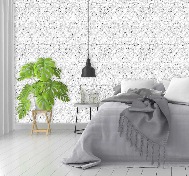 TenStickers. Vintage Wallpaper Diamond field. Are you looking for a classy decoration to your living room or a bedroom? Look no more, let us present this ornamental wallpaper.
