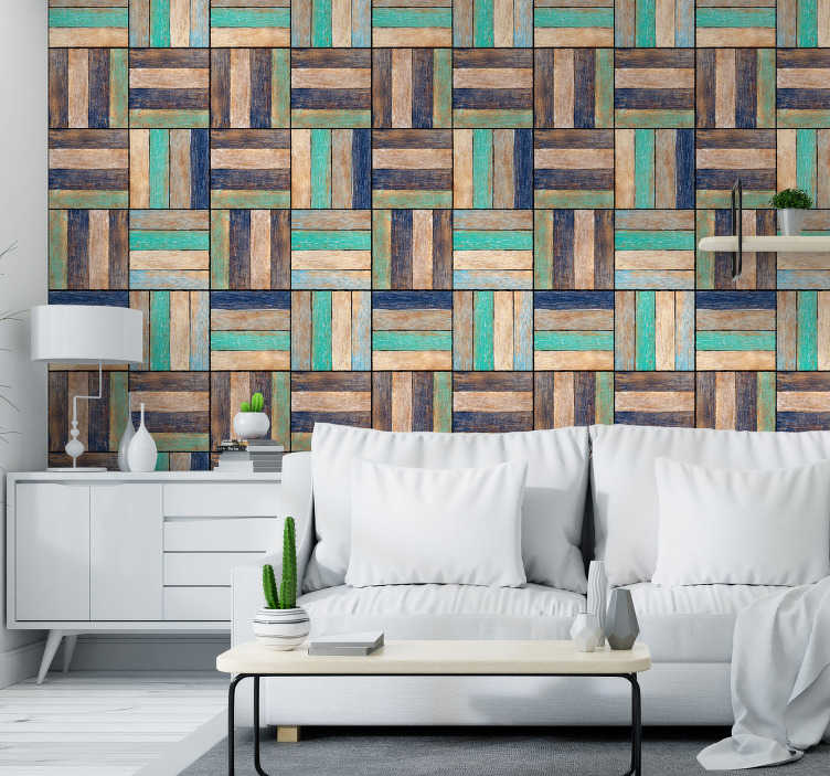 TenStickers. Wooden Pattern Textured Wallpaper. Bring any room in your house to life with this super cool looking modern wooden wallpaper. Free worldwide delivery available!