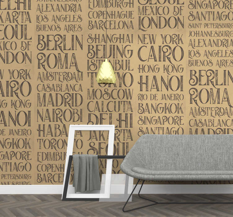 TenStickers. Cities of the World Letter Wallpaper. Show off to the world that you're a well-travelled global citizen with the excellent cities of the world wallpaper. Free worldwide delivery available!