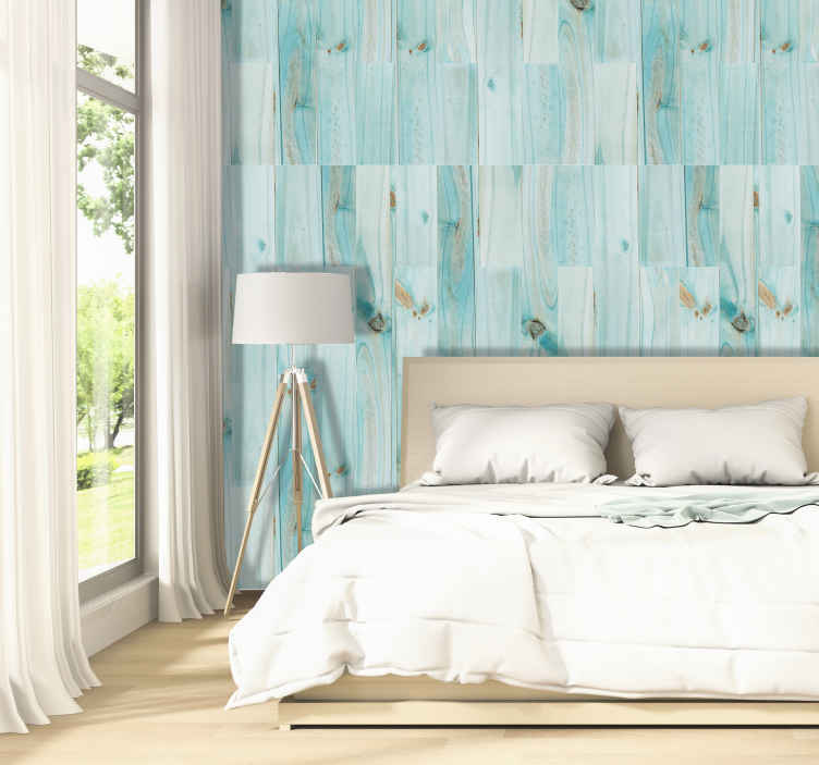 TenStickers. Pattern Wallpaper Peppermint clouds. Redecorate your bedroom in a stylish way with the help of those luxury wallpapers that will make this room a place you want to wake up every day.