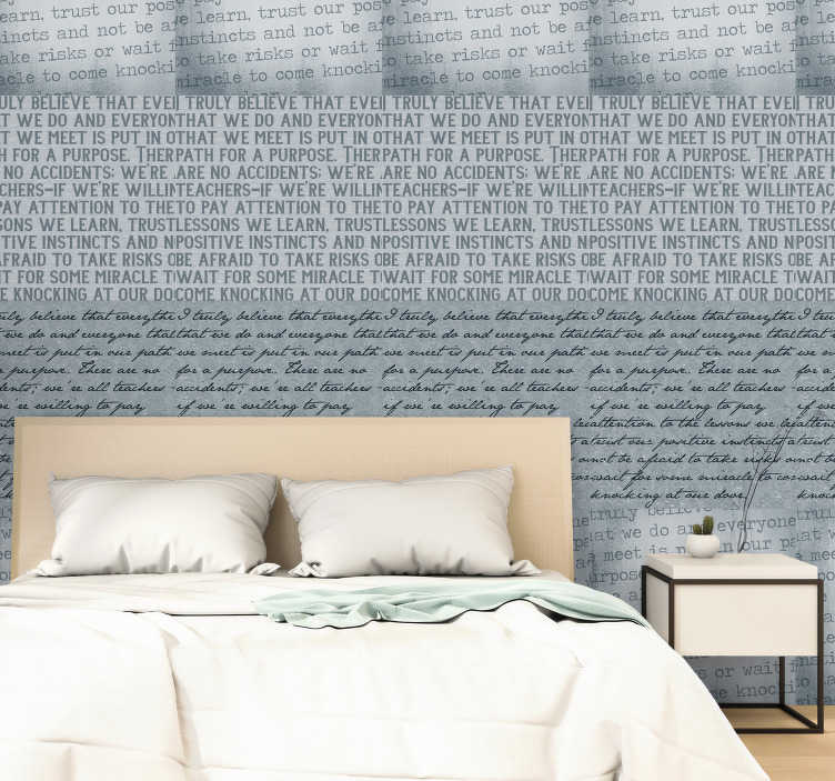 TenStickers. Something to Think About Wallpaper. Marla Gibbs- something to think about wall paper to express your thoughts while you have a beautiful wall to admire. This design is finished in matte.