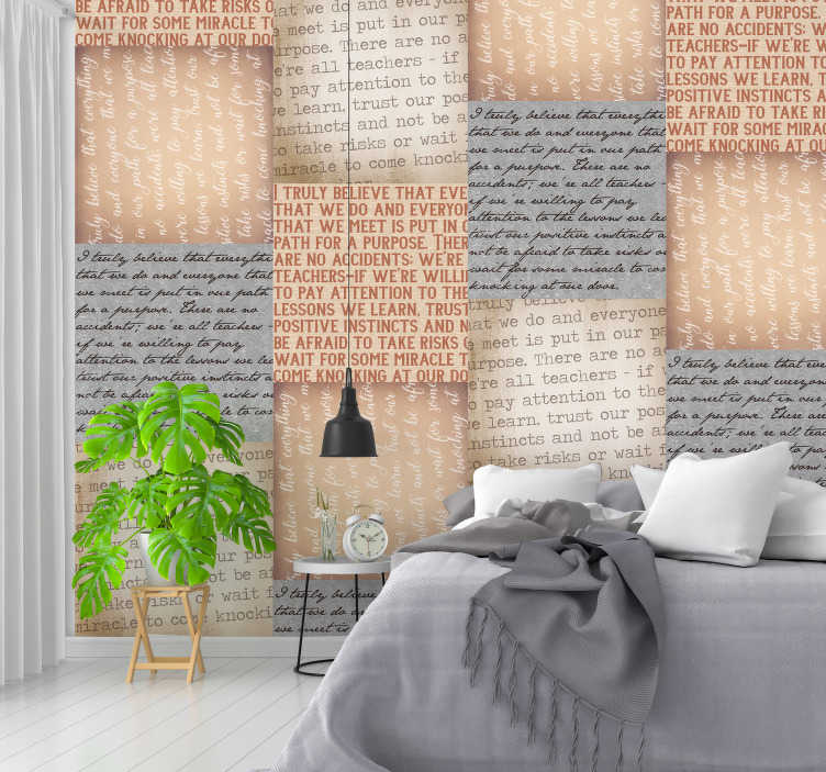 TenStickers. Marla Gibbs Quote Dining Room Wallpaper. Bring the immortal words of the legendary actress Marla Gibbs into your home with this beautiful text wood wallpaper. Free delivery available!
