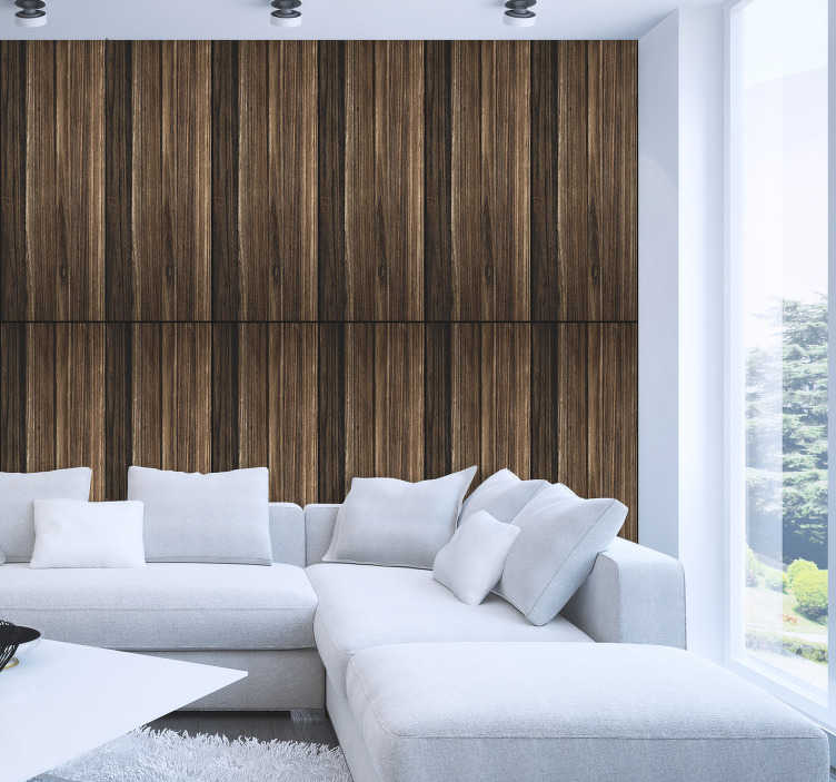 TenStickers. Dark Wood Textured Wallpaper. Decorate that spare wall in your home with this fantastic wood wallpaper, depicting the imitation of the texture! Extremely long-lasting material.