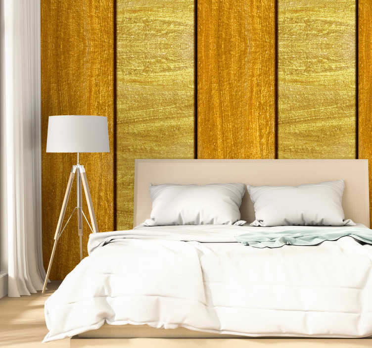 TenStickers. Pattern Wallpaper Kingdom of Gold. The room wallpaper is an amazing way to forget about your boring walls. This project contains a design of wide golden and yellow stripes.