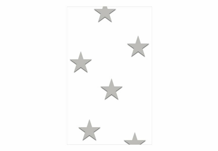 Papel Pared Estrellas Grises