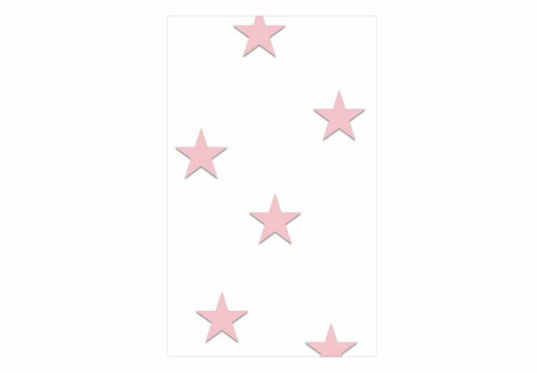 Papel Pared Estrellas Rosas Infantiles