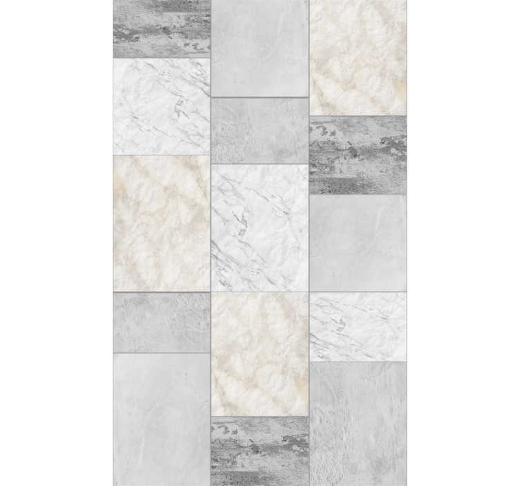 TenStickers. Stone Triptych Stone Wallpaper. Add some stones to your wall with this fantastic stone wallpaper, depicting them patterned in a unique and original way!