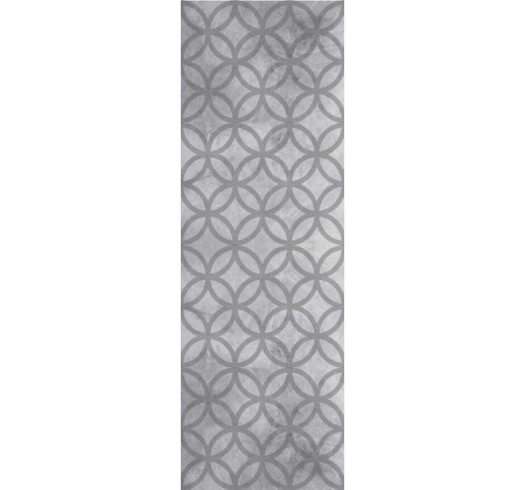 TenStickers. 콘크리트 원형 패턴 벽지에 점. 콘크리트를 모방 한이 멋진 기하학적 모양의 벽지로 거실이나 침실에 새로운 삶의 임대를하십시오.