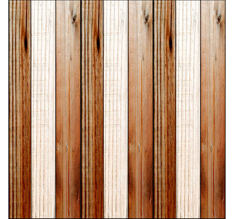 TenStickers. Chocolate duo Striped Wallpaper. Textured wallpaper imitating wood with white an brown stripes that will make your home more welcoming and with a more original and modern decor.