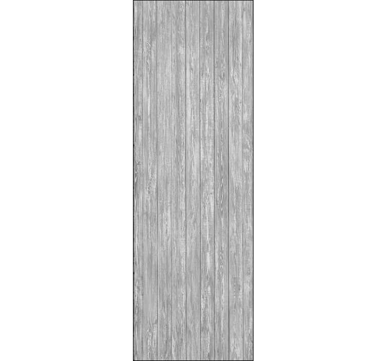 TenVinilo. Papel pintado imitación madera natural gris vertical. Papel pintado imitación madera natural de color gris en orientación vertical, un diseño elegante que se adaptará a cualquier estancia de tu hogar.