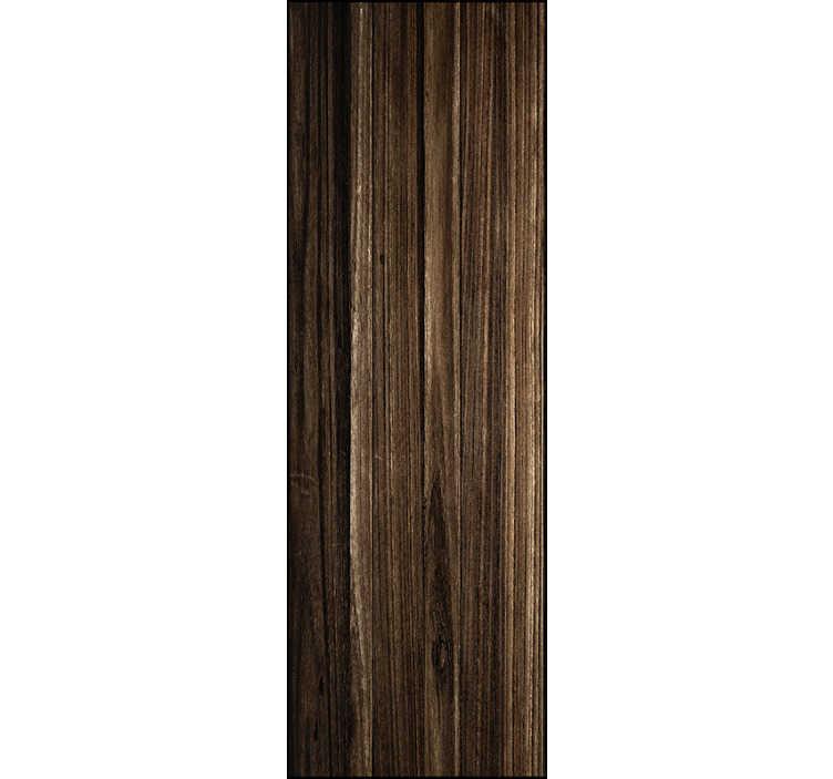 TenStickers. Behang met print bruin donker hout. Super leuke hout print behang voor uw woonkamer! Bekijk hier onze verschillende ontwerpen in donker hout behang en donker bruin hout behang ontwerpen!