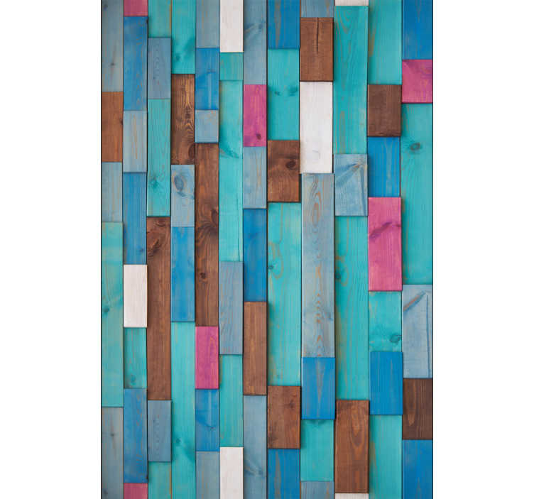 TenStickers. 자연 뮤즈 패턴 벽지. 다양한 색상의 나무를 모방 한이 숭고한 질감의 비닐 벽지로 거실, 식당 또는 침실을 장식하십시오.