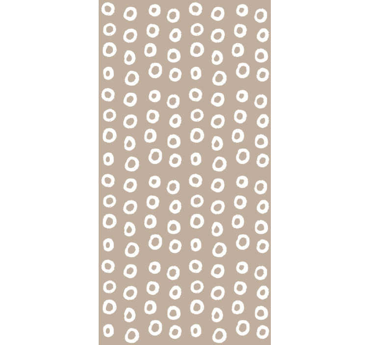 TenStickers. Wallpaper Cinnamon bubbles. This stunning brown and white wallpaper is a great decoration to your bedroom. In a quick and easy way you will redecorate any interior you want.