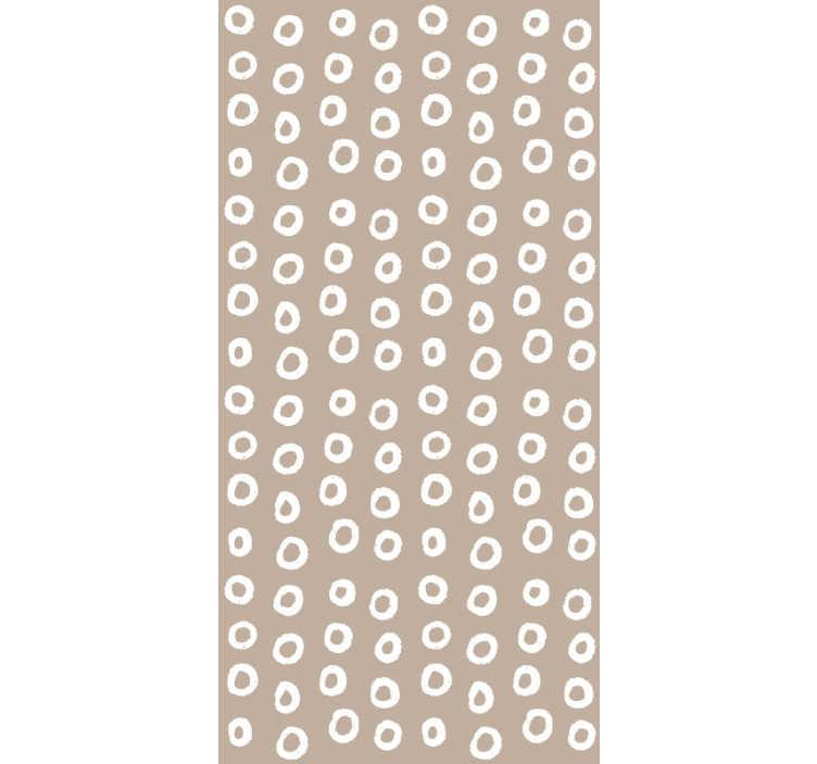 TenVinilo. Papel pared marrón con círculos blancos. Papel pintado infantil de lunares blancos ideal para decorar la habitación de los pequeños del hogar de un modo único, crea un ambiente confortable