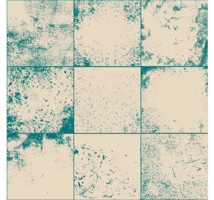 TenStickers. Unterwasser traum Wandtapete. Diese fantastische strukturierte und gemusterte tapete imitiert weiße fliesen in grünlichem blau und passt perfekt in ihr schlafzimmer oder wohnzimmer.