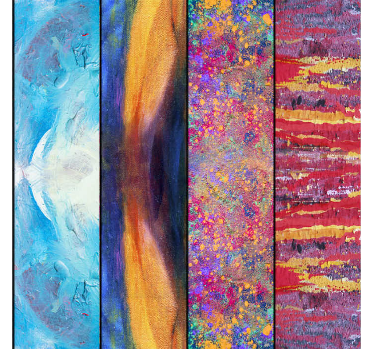 TenStickers. Tapet farverig splash. Dette farverige tapet får dine værelser til at blive fantastiske og magiske steder fulde af liv. En perfekt kombination af mønstre.