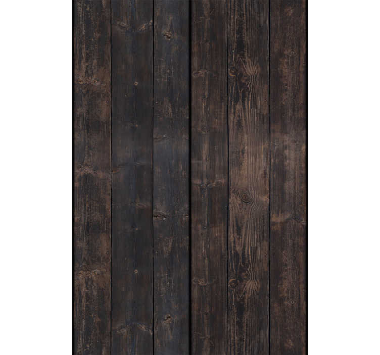 TenStickers. Wooden Dream Pattern Wallpaper. Complement your rustic or classic decor with this wonderful textured and patterned wallpaper imitating dark brown wood. Easy to apply.
