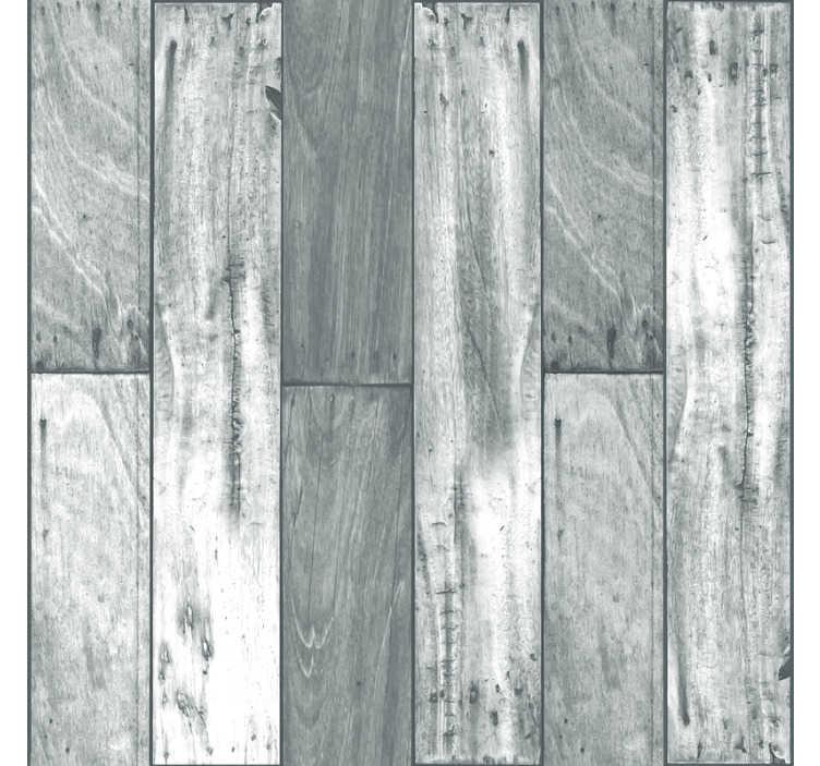TenStickers. Grijs hout patroon behang. Stop met het verspillen van je tijd met verf en middelmatigheid en begin te leven met dit geweldige moderne grijze houten behang. Wereldwijde levering!