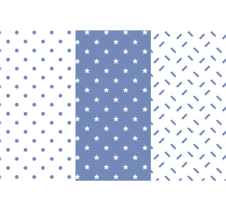 TenStickers. Blue stars children's bedroom Wallpaper. If your little one already has a favourite colour and it just so happens to be blue then this is the perfect Children's bedroom wallpaper for you!