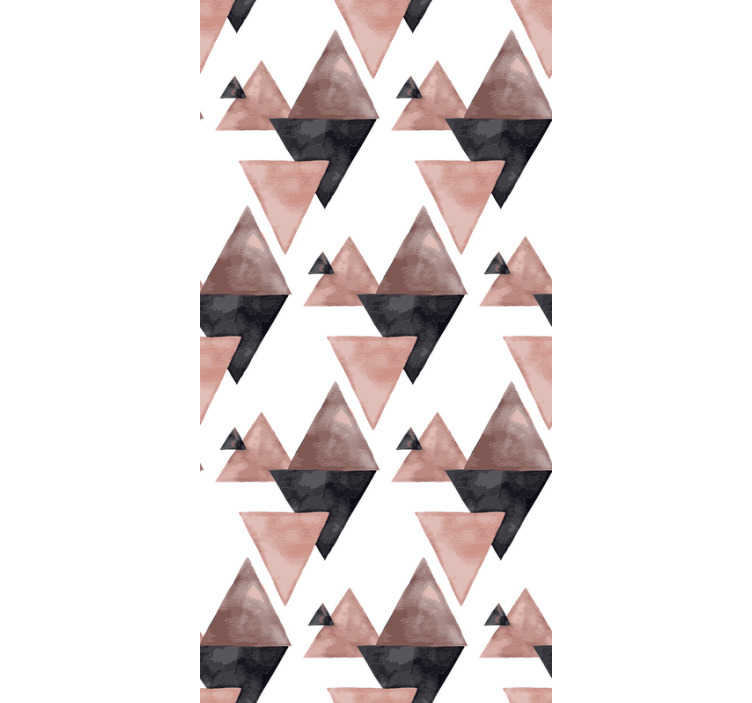 TenStickers. Triangular Harmony Triangle Wallpaper. this triangle wallpaper will give the style and personality to your home that you are looking for! Perfect for decorating common areas.