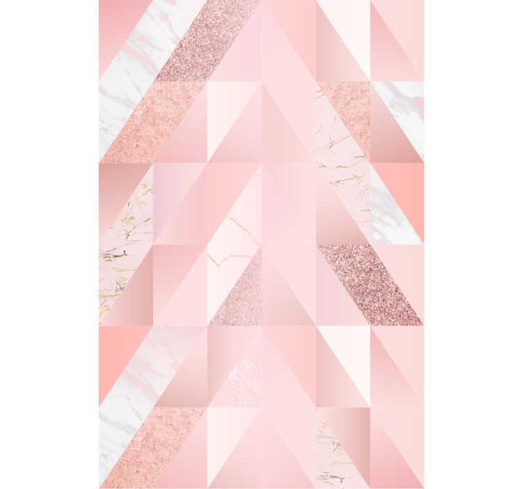 TENSTICKERS. ピンクの大理石の壁紙. お部屋にメイクをお探しですか?それは絶対に素晴らしい見たいですか?このピンクの大理石の壁紙はあなたにぴったりかもしれません!