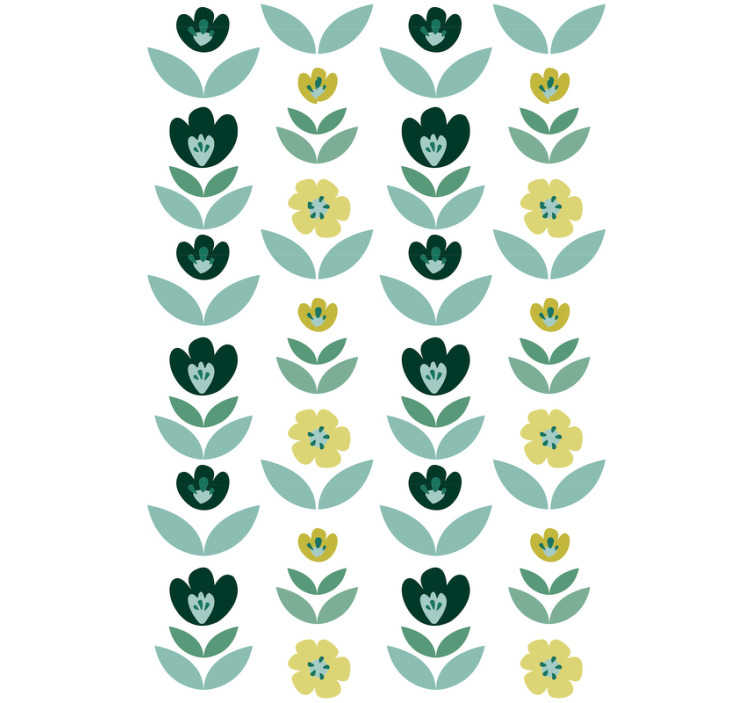 TenStickers. Mint flower Wallpaper. If you're thinking of adding a lovely touch of green to your wall, well  this flower wallpaper would be a fantastic green addition to your walls