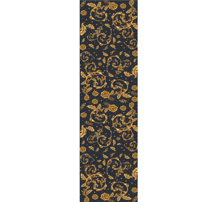 TenStickers. Gouden blad vintage behang. Een modern vintage goudkleurig behang met bladmotief om uw huis te decoreren. Een speciaal ontwerp om een esthetische schoonheid in uw huis te creëren.