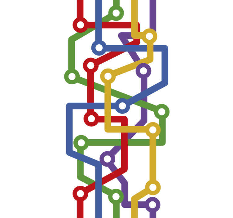 TenStickers. Subway map abstract Wallpaper. If you are looking for a completely original, unique wallpaper design then it can't get much more original than this abstract wallpaper!