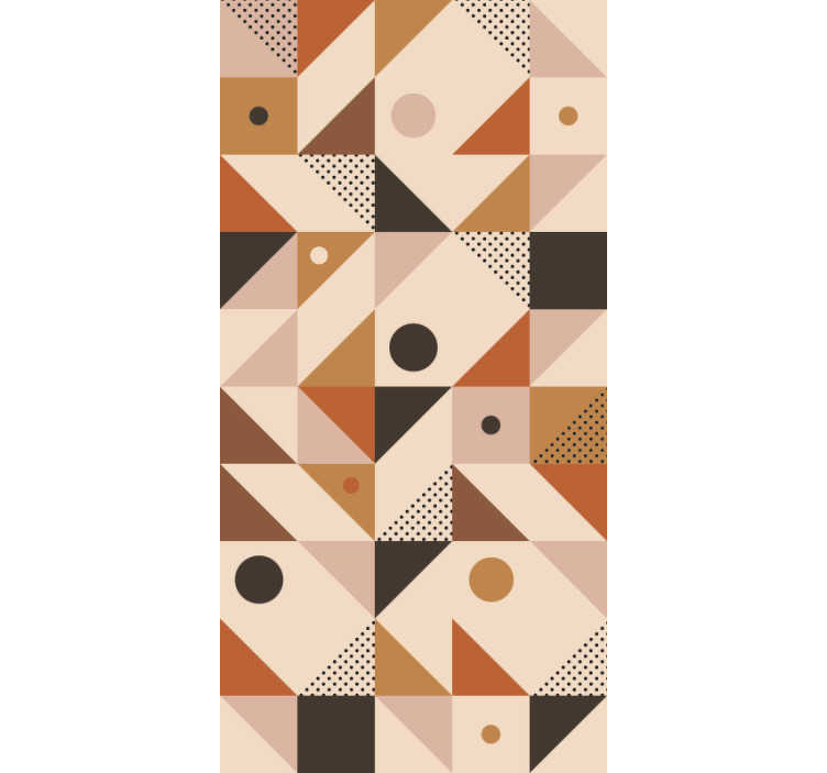 TenStickers. Brown Patchwork Modern Wallpaper. Make your home's decor more modern and fill it with originality with this wonderful modern vinyl wallpaper with a colorful pattern.