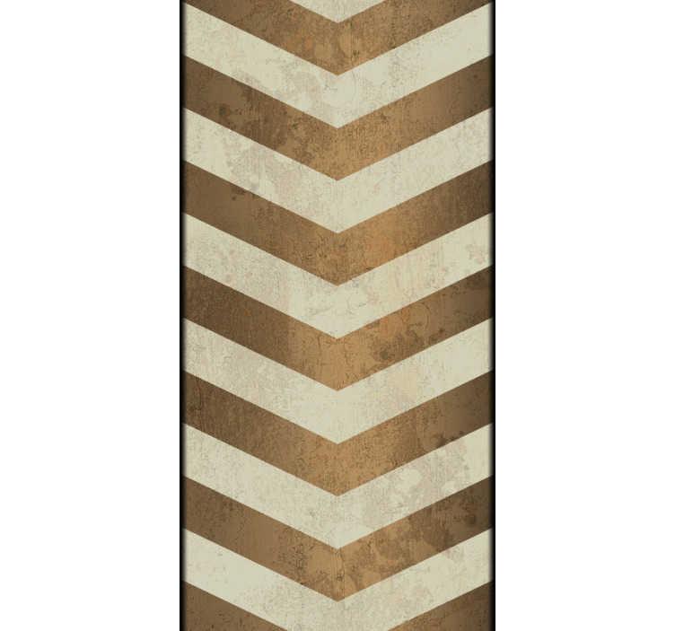 TenStickers. Papier peint à rayure Ondes à la cannelle. Ce papier peint à rayures composé de rayures en zigzagues de couleurs blanche et cannelle s'harmonisera à votre salon ou votre salle à manger.