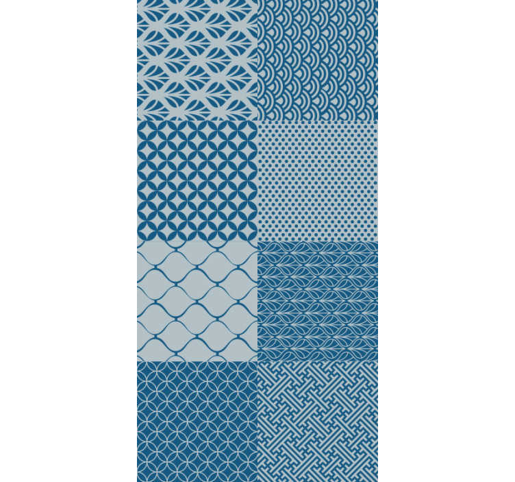 TenStickers. Oriental mosaic Vintage Wallpaper. Add life and color to your home with this fantastic blue ornamental vinyl wallpaper with a mosaic pattern! Perfect for living rooms.