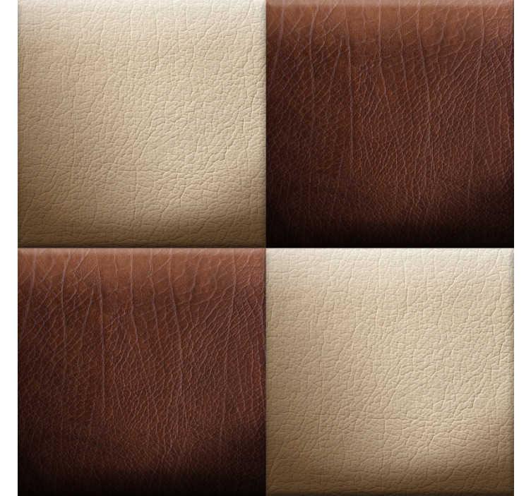 Tenstickers. Mönster tapet - choklad schackbräde. När du tittar på denna mönstrade tapet kan du se designen på rutor som ser ut som schackbräde samt en låda full av läckra choklad. Prova dem!