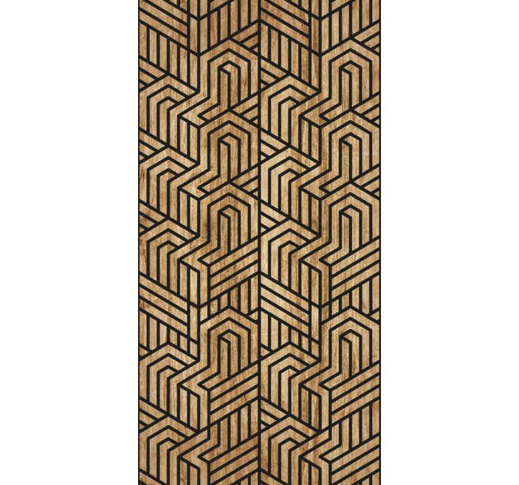 TenVinilo. Papel pintado imitación bloques de madera natural. Magnífico papel pintado con textura madera, un diseño que quedará genial en las paredes de tu hogar o de tu negocio.