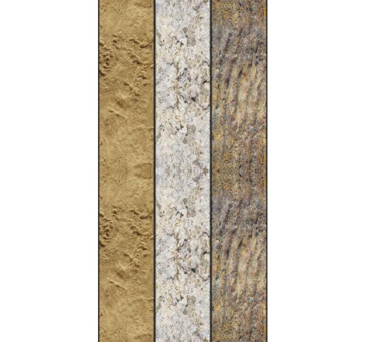 TenStickers. Stenen modern behang. Geef elke kamer in je huis een meer ondergronds en natuurlijk gevoel met dit geweldige stenen grotbehang. Wereldwijde levering beschikbaar!
