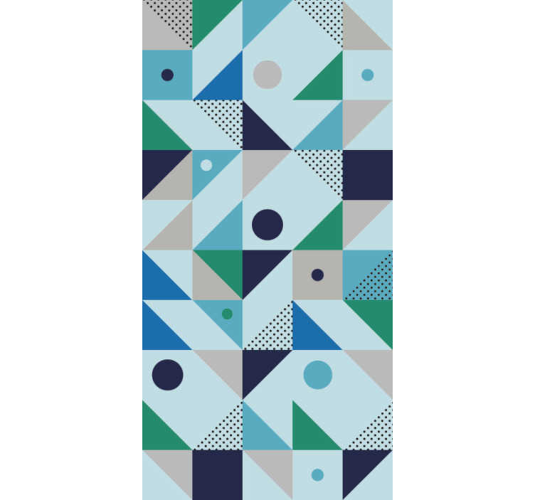 TenStickers. Blue patchwork abstract  Wallpaper. Looking for a totally unique, abstract wallpaper? Well congratulations, you've definitely hit the jack pot! Applying our wallpaper is an easy process